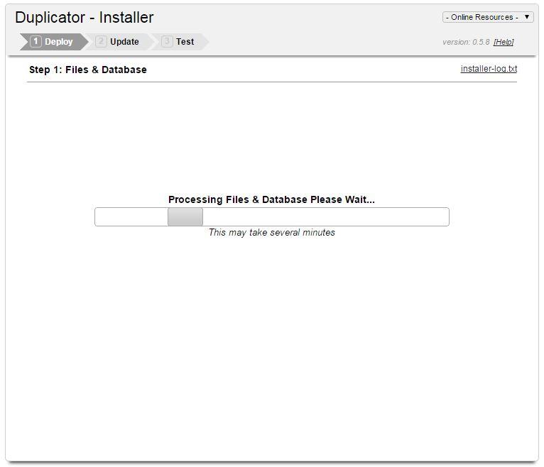 Duplicator Step 9