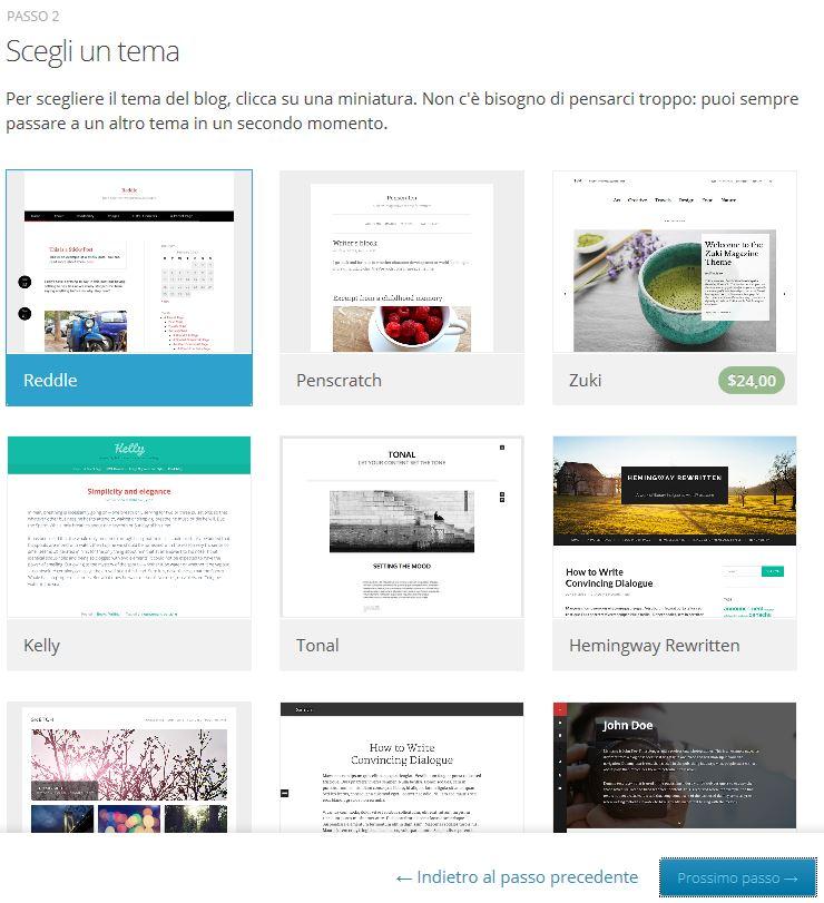 Come creare un blog gratis - Passaggio 5