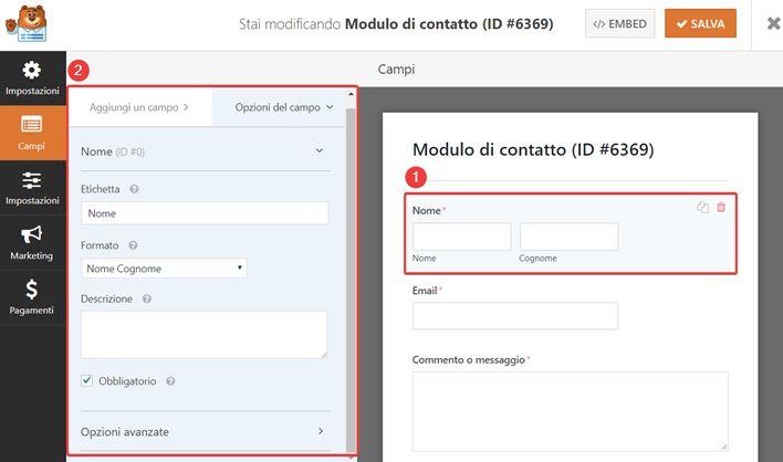 WPForms-come creare moduli contatto-Step4