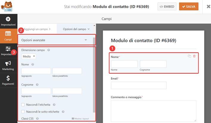 WPForms-come creare moduli contatto-Step5