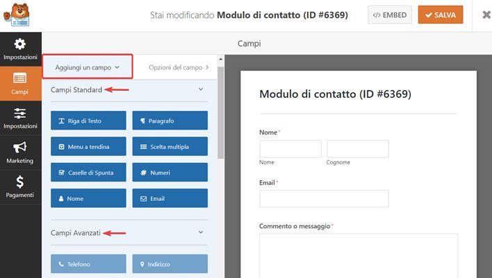 WPForms-come creare moduli contatto-Step6